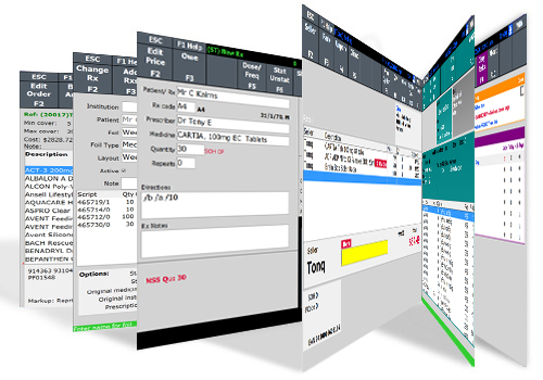 Toniq product screen shots carousel.